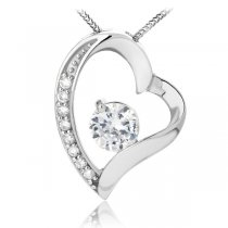 Colier din Argint Diamond Heart Feeling