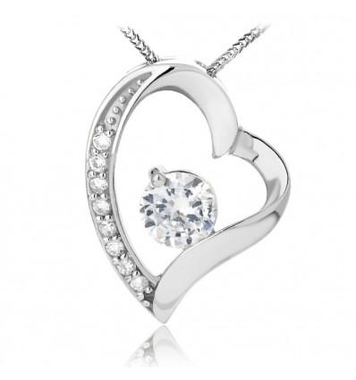 Colier din Argint Diamond Heart Feeling