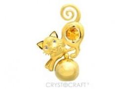 Pisica cu cristale Swarovski