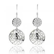 Cercei Chandelier Sophisticated Circles  Argint 925