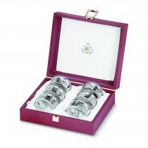 Set de 6 inele argintate pentru servetele by Sheffield