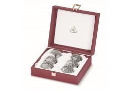 Set de 6 inele argintate pentru servete