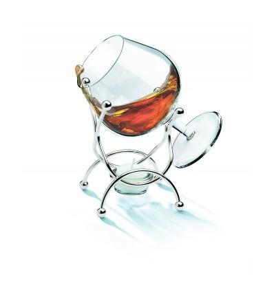 Incalzitor de Cognac placat cu argint 925 Chinelli Made in Italy