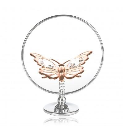 "Fluturas din aur roz cu cristale Swarovski ""Butterfly effect"""