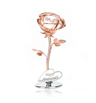 Trandafir cu cristale Swarovski - Happy Anniversary