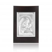 Icoana argintata cu Fecioara Maria si pruncul Iisus