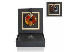 "Colier din portelan placat cu aur ""Heavy Red"" Wassily Kandinsky"