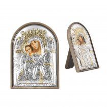 Icoana argintata cu Sf. Maria si Iisus
