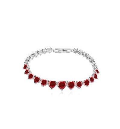 """Bratara cu cristale Swarovski """"Red Diamond Heart"""""""
