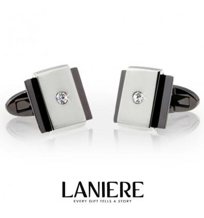 """Butoni pentru camasa - """"Silver Amber"""" LANIERE"""