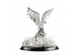 Statueta Vultur cu set de pahare de Vodca by Chinelli