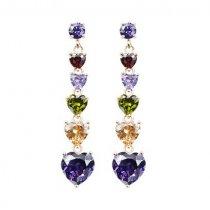 Cercei cu cristale Diamond Hearts
