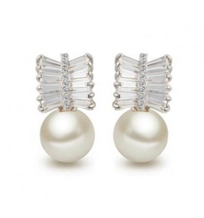 Cercei cu perle si cristale Gentle Touch
