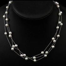 Colier triplu cu perle