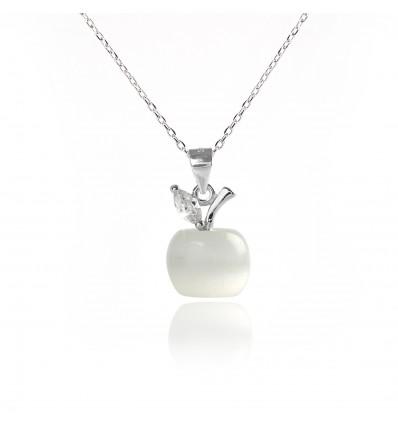 """Colier si pandantiv din argint cu cristale """"Apple"""""""