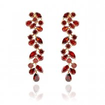 Sangria  - Cercei eleganti decorati cu cristale Zirconia