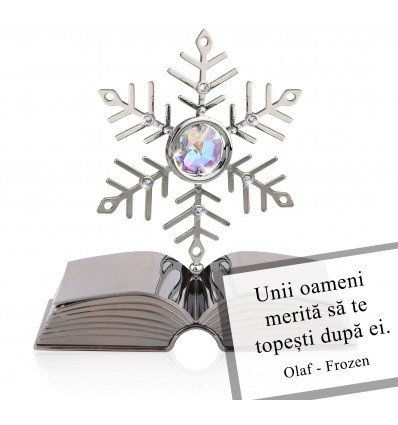 Fulg de nea - Citate motivationale cu cristale Swarovski