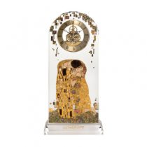 "Ceas Skeleton din sticla Gustav Klimt ""The Kiss"" - Goebel"