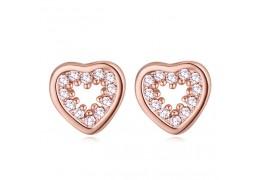 """Cercei cu cristale cubic zirconia """"Rose heart"""""""