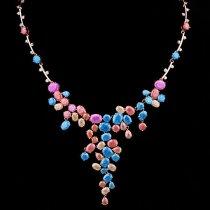 """Colier cu cristale  """"Spring Colours"""""""