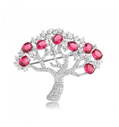 """""""Tree of life"""" - Brosa cu cristale"""