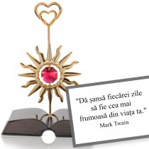 "Mark Twain - ""Despre optimism"" - Colectia ""Citate motivationale cu cristale Swarovski"""