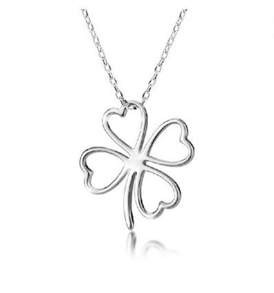 "Colier din argint - ""Lucky Leaf"""