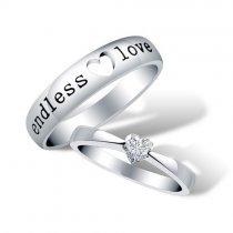 """Inele din argint pentru indragostiti  """"Endless Love"""""""