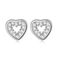 """Cercei cu cristale cubic zirconia """"Silver Heart"""""""