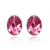 """Cercei cu cristale """"Simply Pink"""""""