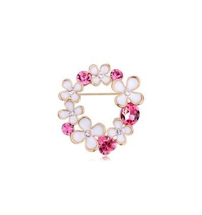 """Brosa cu cristale """"Flower Bouquet"""""""