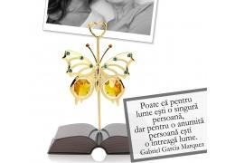 Gabriel Garcia Marquez - Mesaj pentru mama - Rama foto din colectia citate motivationale cu cristale Swarovski