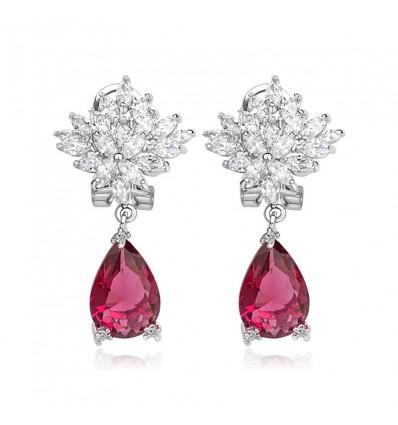 "Cercei cu cristale Swarovski Elements ""Passion Flower"""