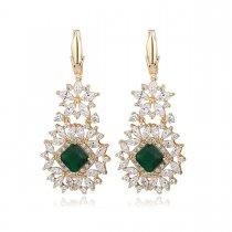 """Cercei cu cristale """"Extravagant Emerald"""""""