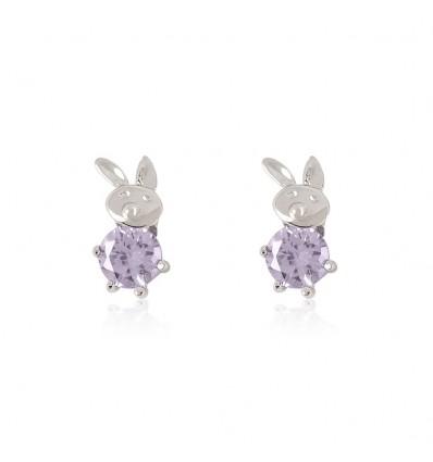 """Cercei din argint cu cristale """"Easter Bunny"""""""