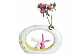 "Vaza din portelan ""Pink Apple Bunny"" Klimt - Goebel"