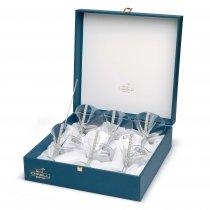 Set de 6 pahare pentru Martini cu cristale - Made by Chinelli Italy