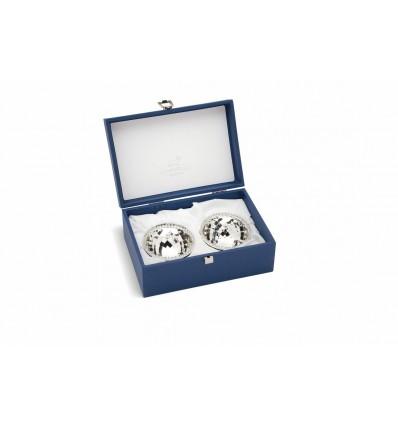 Set argintat pentru aperitiv - Diamante by Chinelli Italy