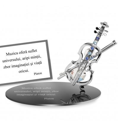 "Platon - ""Despre muzica"" Citat motivational cu cristale Swarovski"""