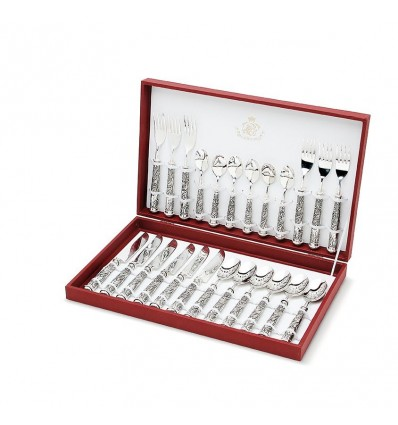 Set 24 piese tacamuri argintate made by Sheffield Italy