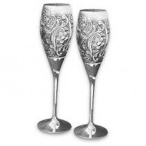 "Set de pahare pentru sampanie ""Royal Rose"" Made by Sheffield - Chinelli Italy"