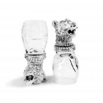 """Set argintat de pahare pentru vodca """"Bear"""" by Chinelli Italy"""