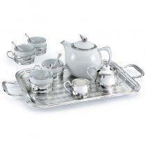 Set argintat pentru ceai cu tava si ceainic by Chinelli Italy