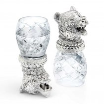"Set argintat de pahare pentru vodca ""Quadri Bear"" by Chinelli Italy"