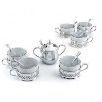 """Set argintat pentru cafea """"Glow"""" by Chinelli Italy"""
