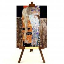 """Tablou pe sevalet """"Cele trei varste"""" Gustav Klimt"""