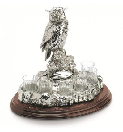 "Statueta suport pentru bauturi fine ""Wise Owl"" by Chinelli Italy"