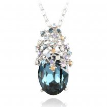 "Colier cu cristale Swarovski ""Crystal Bouquet Blue"" - PARURE Milano"