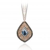 "Colier cu cristale Swarovski ""Vintage Sapphire Drop"" - PARURE Milano"