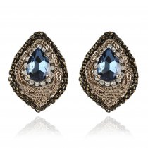"Cercei cu cristale Swarovski ""Vintage Sapphire Drops"" - PARURE Milano"
